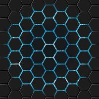 Patrón hexagonal brillante vector
