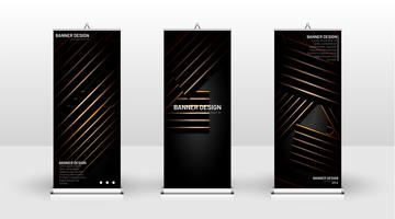 Vertical banner template design