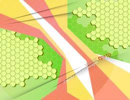 Teste padrão colorido brilhante hexágono abstrato