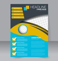 Bright Abstract Shapes Brochure Flyer Template