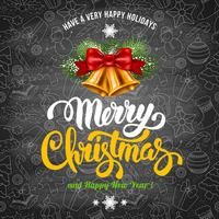 Merry Christmas Greeting Design Card vector