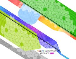 Abstract geometrisch kleurrijk zeshoekpatroon