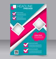 Bright Geometric Shapes Abstract Flyer Brochure Template