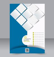 Abstract geometric shapes flyer brochure template