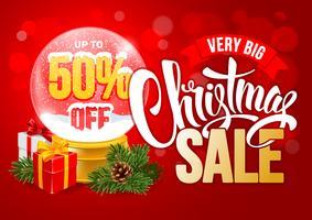 Diseño de gran venta de Navidad