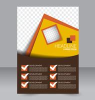 Abstract bright angles brochure flyer template