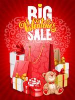 Banner vertical de grande venda de dia dos namorados