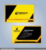 Yellow and black clean line business card template