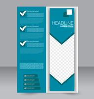 Abstract simple arrow brochure flyer template
