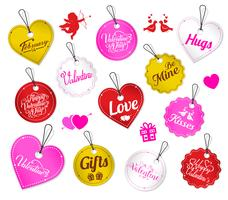 Valentine's Day message tags