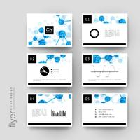 Set of DNA molecule geometric flyer templates vector