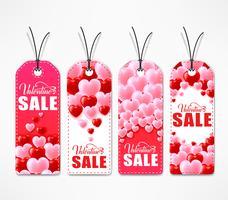 Conjunto de Tags de venda dia dos namorados