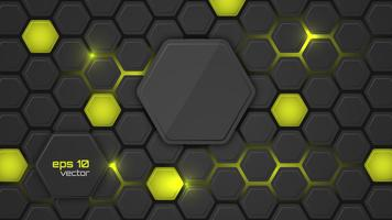 Abstract glowing neon backlighting hexagon pattern