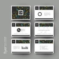 Conjunto de modelos de brochura de contornos de folhas coloridas