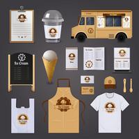 Ice Cream Business Corporate Identity Promotional Materials