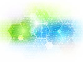 Abstract future business technology background with hexagon pattern