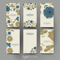 Set of modern floral design brochure flyer templates
