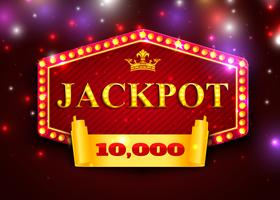 Jackpot Sign in Marquee Lights para juegos de casino
