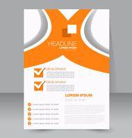 Simple curves abstract flyer brochure template vector