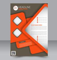 Grey and Red Abstract Brochure Flyer Template