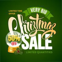 Grön julförsäljningsdesign