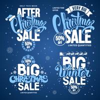 Set of Blue Christmas Sale Designs