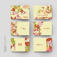 Set of Colorful Promotional Sale Tag Templates