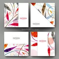 Ensemble de modèles de brochures florales carrées