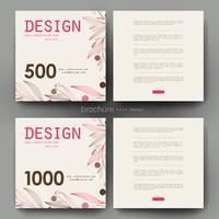 Conjunto de modelos de Brochura Floral quadrado Pastel