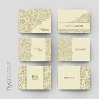 Set of Floral Promotional Sale Tag Templates vector