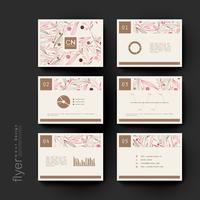 Conjunto de modelos de Brochura Floral moderno Pastel