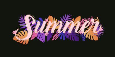 Plantilla de tarjeta de verano