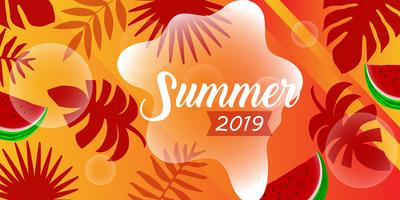 Modèle de carte d'été