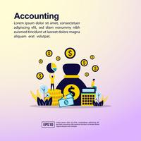 Accounting Landing Page  vector