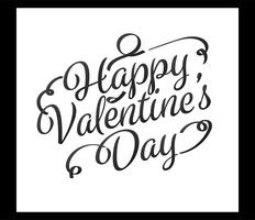 Tipografía feliz dia de san valentin