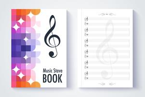 Music stave template