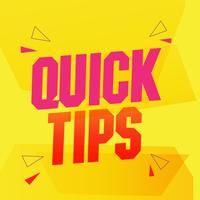 Quick tips composition with flat design  vector