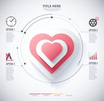 infographic diagram of Heart vector