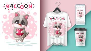 Cute raccoon - mockup for your idea.