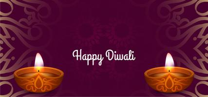Happy Diwali decorative festive card