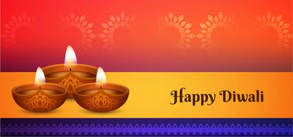glänzendes stilvolles Happy Diwali Design