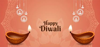 Festival indiano Happy Diwali greeting card