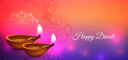 Happy Diwali colorful festival design