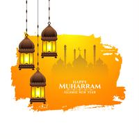 Islamic festival Happy Muharran design