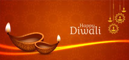 glänzendes dekoratives Happy Diwali Design