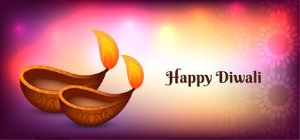 Colorful glossy Happy Diwali poster design