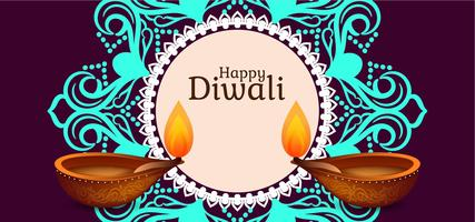 Indisches Festival Happy Diwali Design