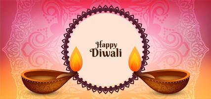 Happy Diwali diseño decorativo