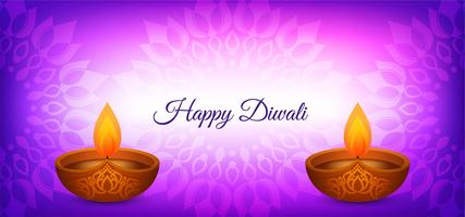 Happy Diwali violet color design