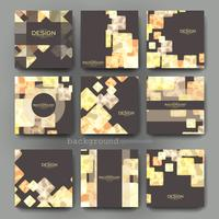 Set of Abstract Geometric  Presentation Brochure Templates